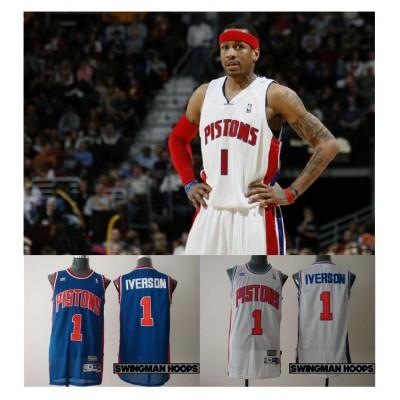Allen Iverson Detroit Pistons Hardwood Classics Jerseys