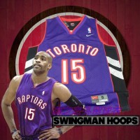 Vince Carter Toronto Raptors Purple Front Black Back Jersey