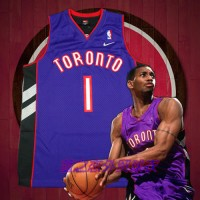 Tracy McGrady Toronto Raptors Purple Front Black Back Jersey