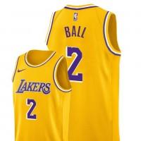 Lonzo Ball Los Angeles Lakers 2019 Yellow Jersey