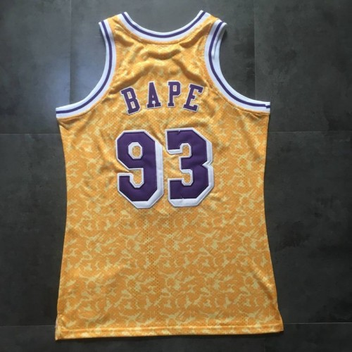 BAPE X Mitchell   Ness Special Edition Lakers Jersey (Authentic Style  Version - Please see pricing) b4cddc635