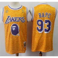 BAPE X Mitchell & Ness Special Edition Los Angeles Lakers Jersey - Swingman Version