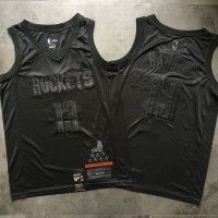 James Harden MVP Limited Edition Black on Black Houston Rockets Jersey - Super AAA Quality