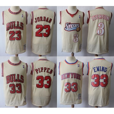 Classic Cream Mitchell & Ness Jerseys