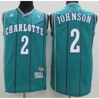 Larry Johnson Charlotte Hornets Hardwood Classics Jersey