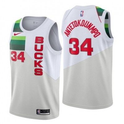 Giannis Antetokounmpo 2018-19 Milwaukee Bucks Earned Edition Jersey