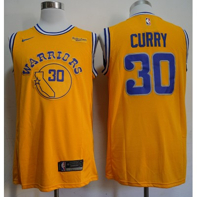 Stephen Curry 2019 Golden State Warriors Yellow Jersey