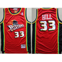 Grant Hill Detroit Pistons Red Mitchell & Ness Jersey