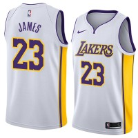 LeBron James Los Angeles Lakers White Jersey