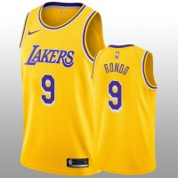 Rajon Rondo 2019 Los Angeles Lakers Yellow Jersey