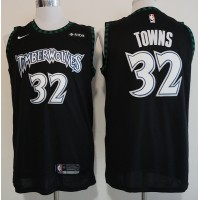 Karl-Anthony Towns Minnesota Timberwolves Black Jersey