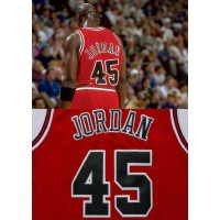 Michael Jordan Number 45 Chicago Bulls Red Jersey