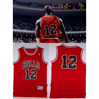 Michael Jordan Number 12 Chicago Bulls Red Jersey