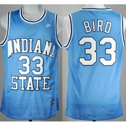 official photos c31de be896 larry bird indiana state jersey