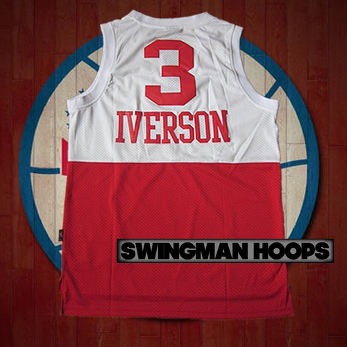 new style 16403 f3e09 Allen Iverson Philadelphia 76ers 1965 Throwback Two Tone Jerseys
