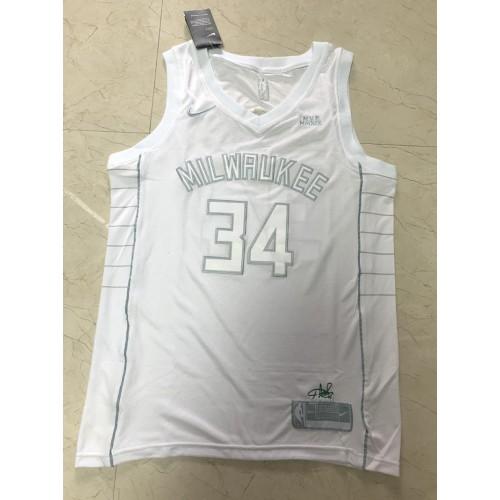Giannis Antetokounmpo White Mvp Special Edition Jersey
