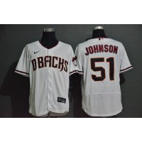 Randy Johnson Arizona Diamondbacks White Baseball Jersey