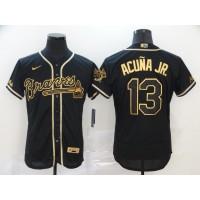Ronald Acuña Jr. Black & Gold Atlanta Braves Baseball Jersey