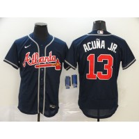 Ronald Acuña Jr. Atlanta Braves Navy Blue Baseball Jersey