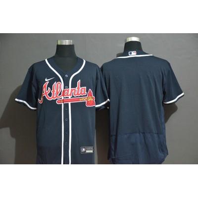 Atlanta Braves Navy Blue Baseball Jersey