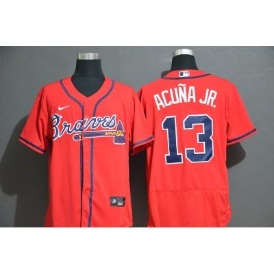Ronald Acuña Jr. Atlanta Braves Red Baseball Jersey