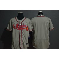 Atlanta Braves Grey Baseball Jersey