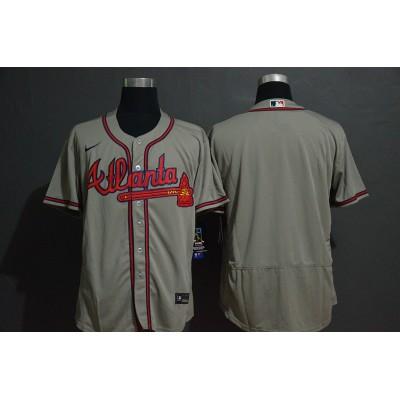 Atlanta Braves Grey Baseball Jersey