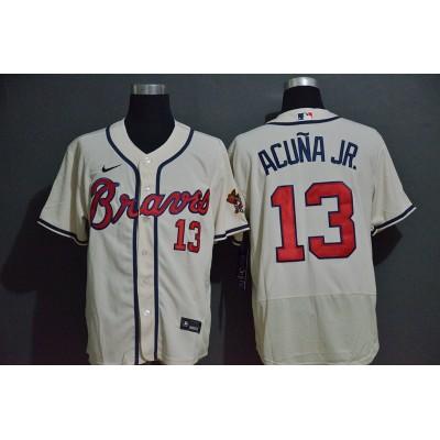 Ronald Acuña Jr. Atlanta Braves White Baseball Jersey