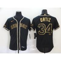 David Ortiz Black & Gold Boston Red Sox Baseball Jersey