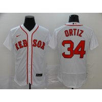 David Ortiz Boston Red Sox White Baseball Jersey