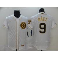 Javier Báez White & Gold Chicago Cubs Baseball Jersey