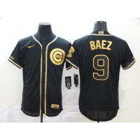 Javier Báez Black & Gold Chicago Cubs Baseball Jersey