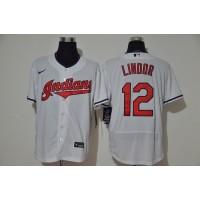 Francisco Lindor Cleveland Indians White Baseball Jersey