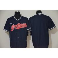 Cleveland Indians Navy Blue Baseball Jersey