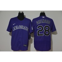 Nolan Arenado Colorado Rockies Purple Baseball Jersey