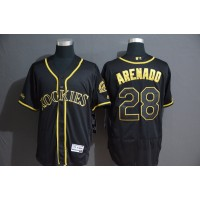 Nolan Arenado Black & Gold Colorado Rockies Baseball Jersey