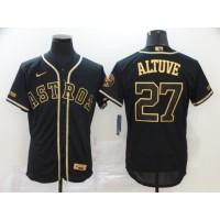 José Altuve Black & Gold Houston Astros Baseball Jersey
