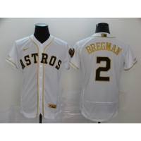 Alex Bregman White & Gold Houston Astros Baseball Jersey