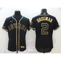 Alex Bregman Black & Gold Houston Astros Baseball Jersey