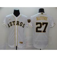 José Altuve White & Gold Houston Astros Baseball Jersey