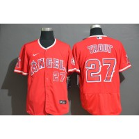 Mike Trout Los Angeles Angels Red Baseball Jersey