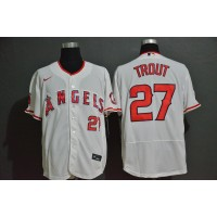 Mike Trout Los Angeles Angels White Baseball Jersey