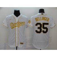Cody Bellinger White & Gold Los Angeles Dodgers Baseball Jersey