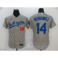 Enrique Hernandez Los Angeles Dodgers Grey Baseball Jersey
