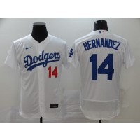 Enrique Hernandez Los Angeles Dodgers White Baseball Jersey