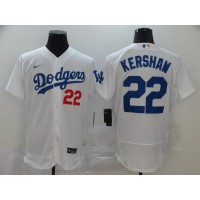 Clayton Kershaw Los Angeles Dodgers White Baseball Jersey