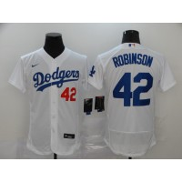 Jackie Robinson Los Angeles Dodgers White Baseball Jersey