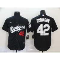 Jackie Robinson Los Angeles Dodgers Black Baseball Jersey