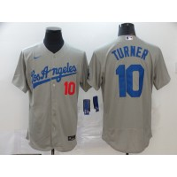 Justin Turner Los Angeles Dodgers Grey Baseball Jersey