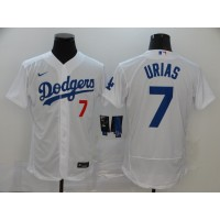 Julio Urías Los Angeles Dodgers White Baseball Jersey